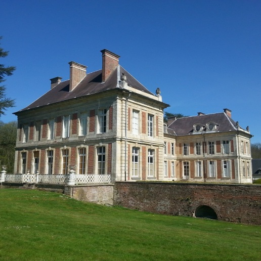 terrasse sud lamas du parc, Château de Courcelles-sous-Moyencourt