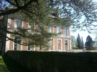 face sud sous arbre lamas du parc, Château de Courcelles-sous-Moyencourt