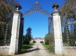 portail classé lamas du parc, Château de Courcelles-sous-Moyencourt