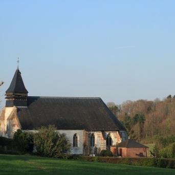 aux dernières lueurs du jour Lamas du Parc, Château de Courcelles-sous-Moyencourt