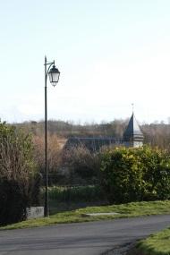vue depuis le village Lamas du Parc, Château de Courcelles-sous-Moyencourt